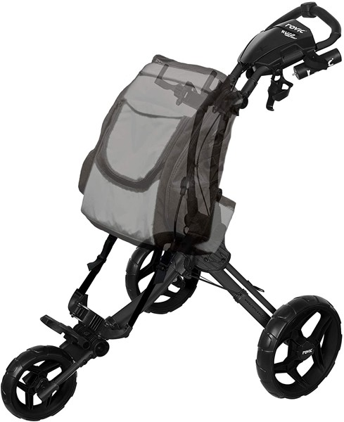 Rovic-RV1D-3-Wheel-Disc-Golf-Push-Cart
